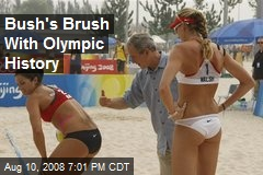 Bush's Brush With Olympic History