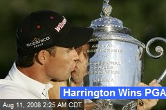 Harrington Wins PGA
