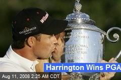 Harrington Wins PGA