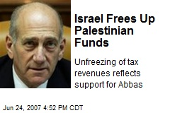 Israel Frees Up Palestinian Funds
