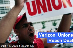 Verizon, Unions Reach Deal