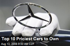 Top 10 Priciest Cars to Own