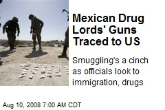 Mexican Drug Lords' Guns Traced to US