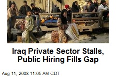 Iraq Private Sector Stalls, Public Hiring Fills Gap