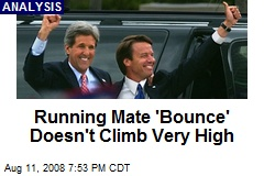 Running Mate 'Bounce' Doesn't Climb Very High
