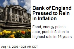 Bank of England Pressed to Rein in Inflation