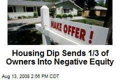 Housing Dip Sends 1/3 of Owners Into Negative Equity