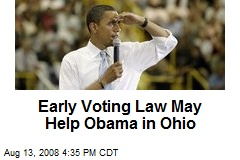 Early Voting Law May Help Obama in Ohio