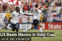 US Beats Mexico in Gold Cup