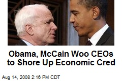 Obama, McCain Woo CEOs to Shore Up Economic Cred