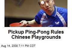 Pickup Ping-Pong Rules Chinese Playgrounds