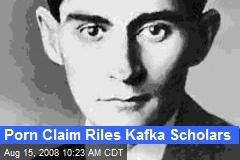 Porn Claim Riles Kafka Scholars