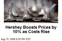 Hershey Boosts Prices by 10% as Costs Rise