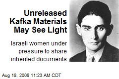 Unreleased Kafka Materials May See Light
