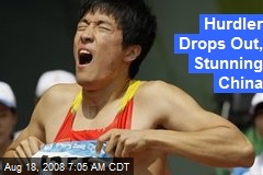 Hurdler Drops Out, Stunning China
