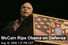 McCain Rips Obama on Defense