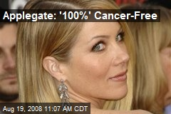 Applegate: '100%' Cancer-Free