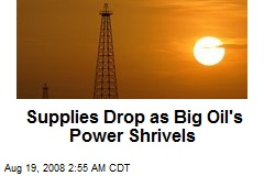Supplies Drop as Big Oil's Power Shrivels