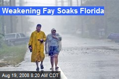 Weakening Fay Soaks Florida