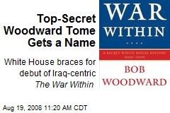 Top-Secret Woodward Tome Gets a Name