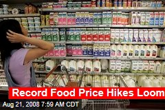Record Food Price Hikes Loom