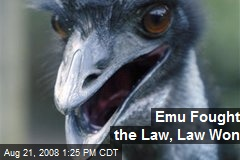 Emu Fought the Law, Law Won