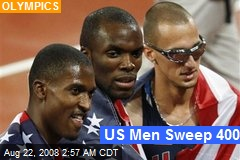 US Men Sweep 400