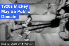1920s Mickey May Be Public Domain
