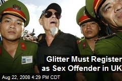Glitter Must Register as Sex Offender in UK