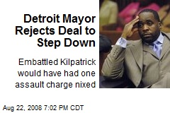Detroit Mayor Rejects Deal to Step Down