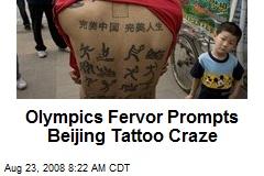 Olympics Fervor Prompts Beijing Tattoo Craze