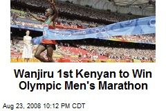 Wanjiru 1st Kenyan to Win Olympic Men's Marathon