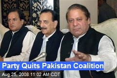 Party Quits Pakistan Coalition