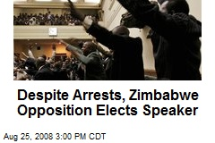 Despite Arrests, Zimbabwe Opposition Elects Speaker