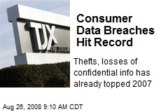 Consumer Data Breaches Hit Record