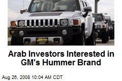 Arab Investors Interested in GM's Hummer Brand