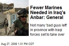 Fewer Marines Needed in Iraq's Anbar: General