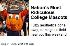 Nation's Most Ridiculous College Mascots