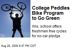 College Peddles Bike Program to Go Green