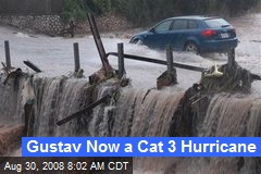 Gustav Now a Cat 3 Hurricane