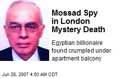 Mossad Spy in London Mystery Death