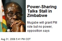 Power-Sharing Talks Stall in Zimbabwe