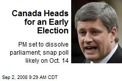 Canada Heads for an Early Election