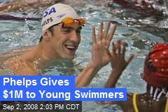 Phelps Gives $1M to Young Swimmers