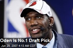 Oden Is No.1 Draft Pick