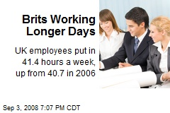 Brits Working Longer Days
