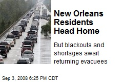New Orleans Residents Head Home