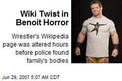 Wiki Twist in Benoit Horror