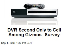 DVR Second Only to Cell Among Gizmos: Survey