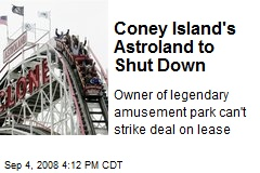 Coney Island's Astroland to Shut Down